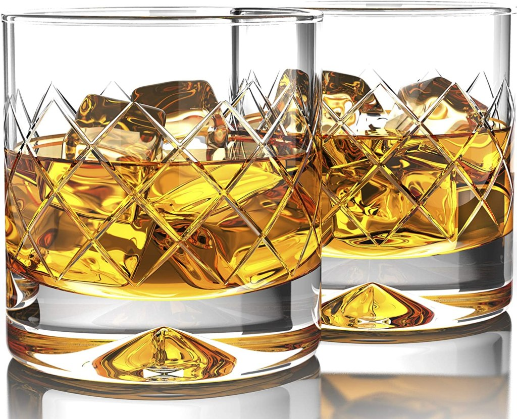 Old fashioned whiskey glasses (tea bowls, bowls and various drinking glasses are the same, as long as they are not too deep or too big)